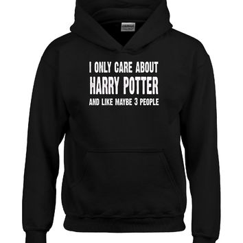 I Only Care About Harry Potter And 3 People Novelty Funny - Kids Hoodie