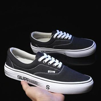 Vans x Supreme Old Skool Classic Canvas Sneakers Sport Shoes