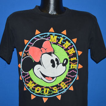 90s Minnie Mouse Neon Puffy Paint t-shirt Medium