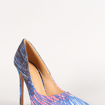 Shoe Republic Binge Abstract Print Pointy Toe Stiletto Pump