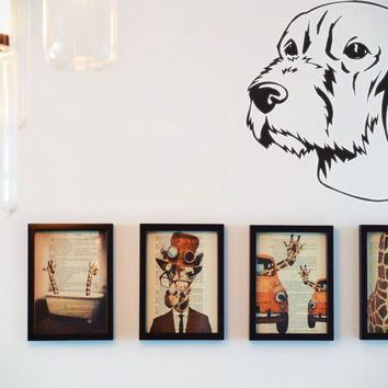 Wirehaired Vizsla Vinyl Wall Decal (Removable Sticker)