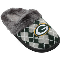 Green Bay Packers Women's Argyle Fur Slide