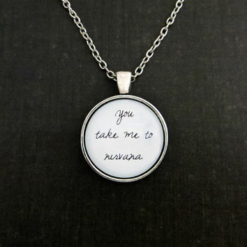 Sam Smith - Nirvana Inspired Lyrical Quote Pendant Necklace