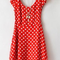 High Waisted Vintage Dots Dress from SarahHunt