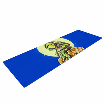 "BarmalisiRTB ""Why in the Cloud"" Blue Yellow Yoga Mat"