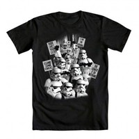 Star Wars Stormtrooper Rally Adult Black T-Shirt