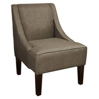 Quinn Swoop-Arm Chair, Dark Pewter