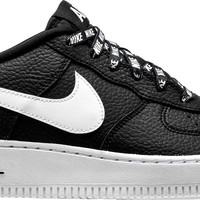 AIR FORCE 1 07 LV8 NBA PACK GRADE SCHOOL LOW LIFESTYLE SHOE (BLACK/WHITE)