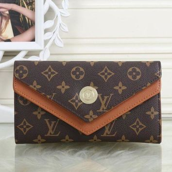 PEAPON LV Louis Vuitton Women Leather Shopping Fashion Wallet Purse