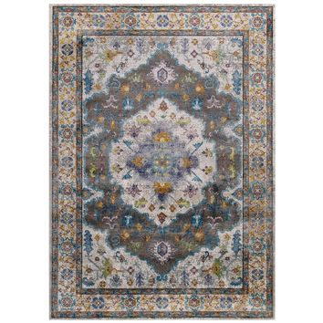 Success Anisah Distressed Floral Persian Medallion 5x8 Area Rug