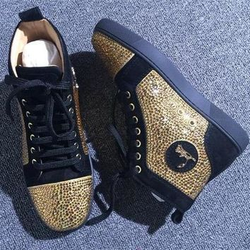 Cl Christian Louboutin Rhinestone Style #1963 Sneakers Fashion Shoes