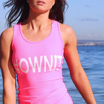 #OWNIT - Pink - Beach Fitness Tank Top
