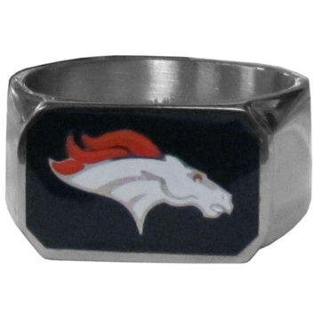 Denver Broncos Steel Ring FBOR020-10