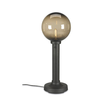 "Moonlite 35"" Table Lamp with 3"" Bronze Tube Body and Bronze Globe"