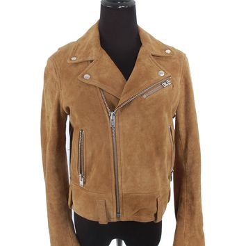IRO Brown Suede Biker Jacket
