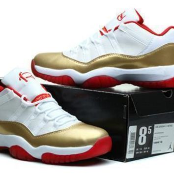 Cheap Air Jordan 11 Low Men Shoes Ray Allen Two Rings Championship PE
