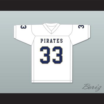 Kirkland Joseph 33 Independence Community College Pirates White Football Jersey