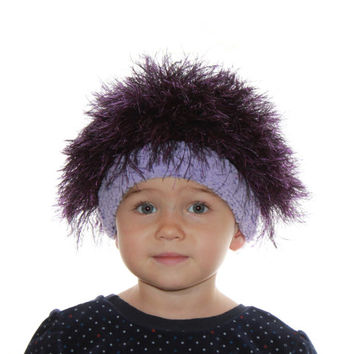 Baby hats / Cabbage Patch Kids Hat  / Beanie Wig  / Children  fuzzy hat  / Baby costume / Halloween Costume / fiolet / troll wig