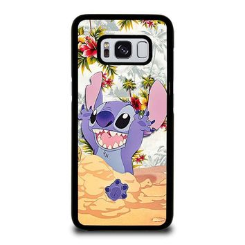 DISNEY LILO & STITCH VINTAGE FLORAL Samsung Galaxy S8 Case Cover