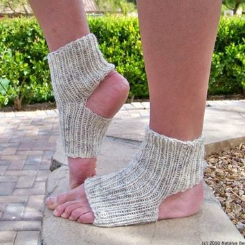 Yoga Socks Knitted Pilates Ballet Leg Warmers by natalya1905