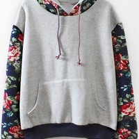 Cupshe Nothing But Roses Hooded Sweatshirt