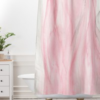 Viviana Gonzalez Delicate pink waves Shower Curtain And Mat | Deny Designs