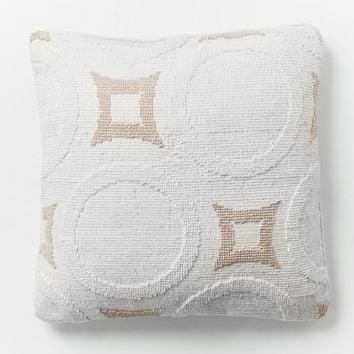 Roar + Rabbit Roundabout Pillow Cover - White