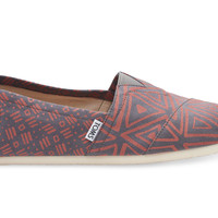 GREY/PICANTE RED TRIBAL PRINT MEN'S CLASSICS