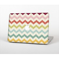 The Vintage Summer Colored Chevron V4 Skin Set for the Apple MacBook Pro 15""