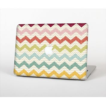 "The Vintage Summer Colored Chevron V4 Skin Set for the Apple MacBook Pro 13"" with Retina Display"