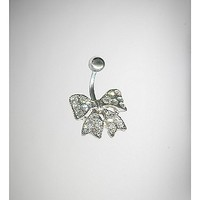 Bow Curved Barbell Belly Ring - 14 Gauge - Spencer's
