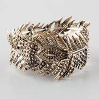 Full Tilt Feather Stretch Bracelet Gold One Size For Women 25146462101