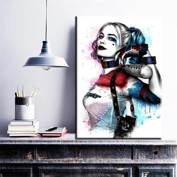 Batman Dark Knight gift Christmas ZZ1095 Wall Modern Movie Batman Joker Harley Quinn Canvas Painting Art Print Poster Picture Wall Paintings Home Decoration AT_71_6