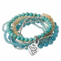 West Virgina Turquoise Wrap Bracelet