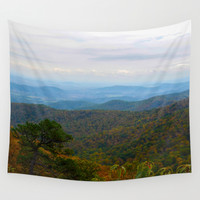 Skyline Drive Wall Tapestry by Mary Andrews