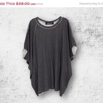 Mothers Day SALE Summer Charcoal gray oversize shirt