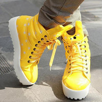 YESSTYLE: Grace Candy- Star-Patterned High-Top Sneakers - Free International Shipping on orders over $150