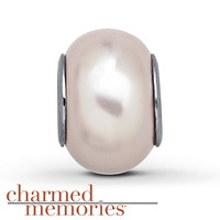 Charmed Memories Pearly Pink Charm Sterling Silver