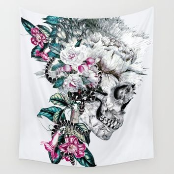Momento Mori Rev V Wall Tapestry by RIZA PEKER