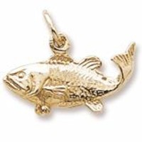 Fish Charm In Yellow Gold