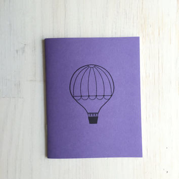 Medium Notebook: Hot Air Balloon, Notebook, Balloon, Purple, Party, Gratitude Journal, Stocking Stuffer, Favor, Journal, Unique, Gift DDD806