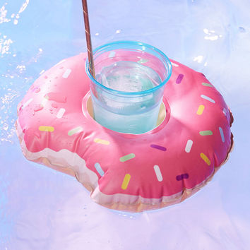 Donut Drink Holder Pool Float Set   Urban Outfitters