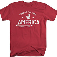 Shirts By Sarah Men's America T-Shirt Land Of The Free 4th July Shirts