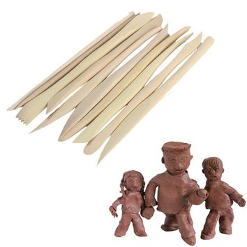 Wooden Clay Sculpture knife Pottery Sharpen Modeling Tools Set 10PCS Wood Knife Great