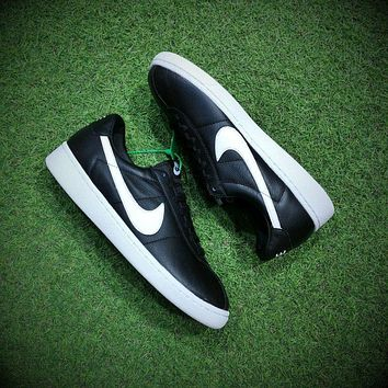 Best Online Sale NIKELab Bruin Leather QS Black/White Sneakers Casual Shoes - 842956-0
