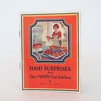 Vintage Cookbook - Food Surprises - Mirro Aluminum Test Kitchen - Advertising Recipe Booklet - Culinary Gift
