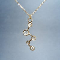 Cassiopeia cubic stars goldfilled necklace