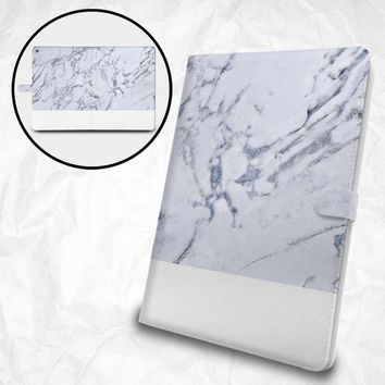 """Marble pattern flip case with personalized monogram for Apple iPad Pro 12.9"""" iPad Pro 11"""" iPad Pro 10.5"""" iPad 9.7"""" iPad Air iPad Mini"""