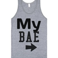 My Bae Best Friend t-shirts-Unisex Athletic Grey Tank