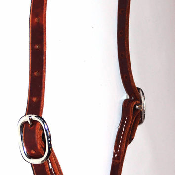 One Ear Leather Headstall